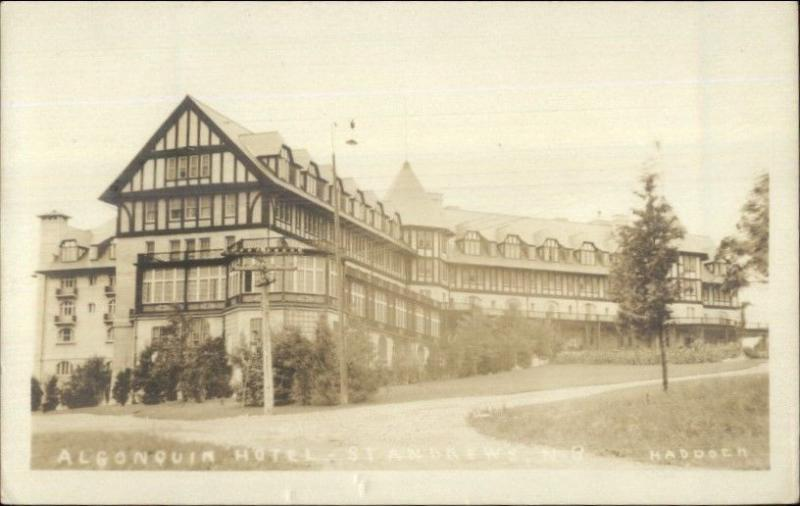 Algonquin Hotel St. Andrews NB c1920 Real Photo Postcard