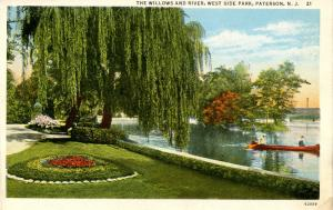 NJ - Paterson. West Side Park, The Willows and River