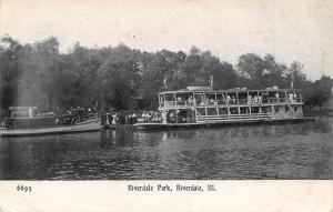 Riverdale Illinois~Riverdale Park Excursion Boat Landing~Passengers~1909 PC