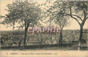 Postcard Lisieux Old City View through the Apple Trees