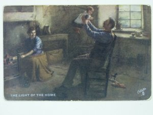 Scottish Life & Character LIGHT OF THE HOME c1907 Postcard by Raphael Tuck 9271