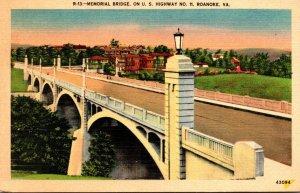 Virginia Roanoke Memorial Bridge On U S HIghway No 11