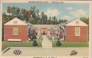 Alabama Attalla Browns Motor Court 1951 Curteich sk2827