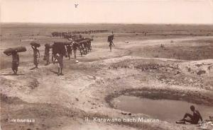German East Africa Tanzania Karawane nach Muansa, Natives, Postcard