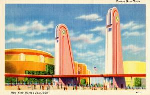 NY - 1939 New York World's Fair. Corona Gate North