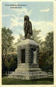 Chief Keokuk Monument Keokuk IA Unused