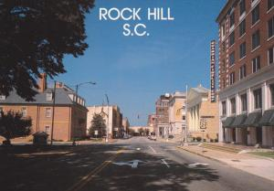 West on Main Street , ROCK HILL , South Carolina , 70-80s