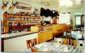 Niota, Illinois Postcard FLORA THUMS Restaurant / Package Liquor Store c1960s