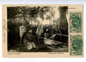 191174 FRENCH HAUTE GUINEE weavers Vintage RPPC