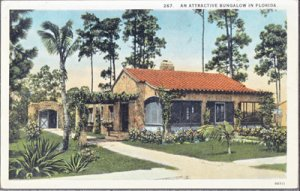 FLORIDA - PICTURESQUE view of an early bungalow in the Sunshine State, 1920s