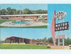 Unused Pre-1980 MOTEL SCENE Durham North Carolina NC B5363