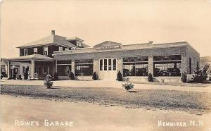 Henniker NH Rowe's Garage Shell Gas Station Chevrolet Dealership RPPC Postcard