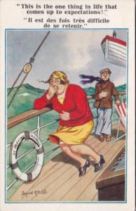 Humour Couple Getting Sick On Ship S S Heaving Harriet