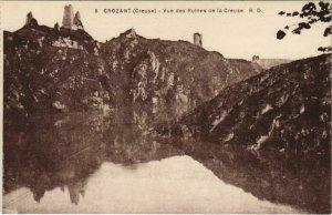 CPA CROZANT Vue des Ruines de la Creuse (1143782)