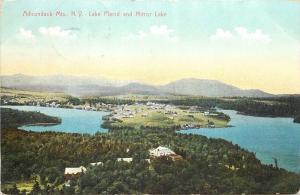 Lake Placid Adirondack Mts New York~Birdseye Homes~Mirror Lake~1907 Postcard