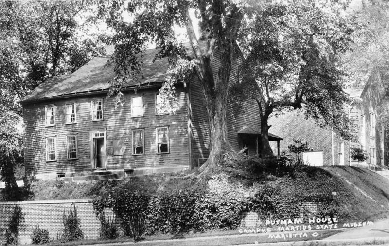 Marietta Ohio Putnam House Museum Real Photo Antique Postcard K15432