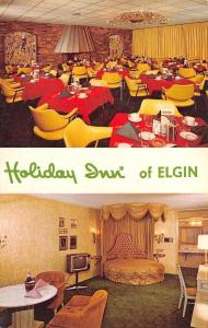 Elgin Illinois~Holiday Inn~Honeymoon Suite~Round Canopy Bed~Dining Room~1950s PC