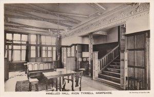 RP: Panelled Hall, AVON TYRRELL, Hampshire , England, 30-40s TUCK