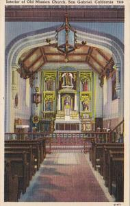 California San Gabriel Interior Od Old Mission Church