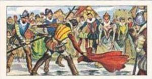 Glengettie Tea Vintage Trade Card Historical Scenes No 6 Sir Walter Raleigh  ...
