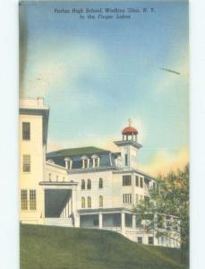 Linen HIGH SCHOOL SCENE Watkins Glen - Near Ithica & Elmira New York NY E2309