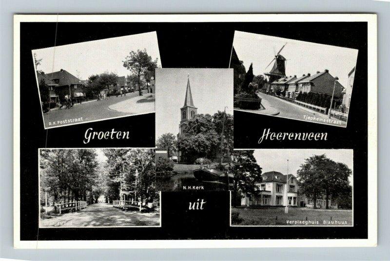 Groeten uit Heerenveen, Montage Of Images,  Chrome Postcard