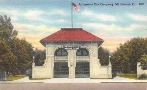 LPS41 Mt. Carmel Pennsylvania Anthracite Fire Station Postcard