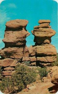 Siamese Twins Garden of the Gods Colorado Springs CO Colorado CO Postcard