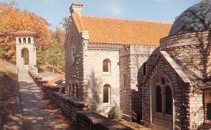 Eureka Springs Arkansas~St Elizabeths Chapel Detached Belltower~1950s Postcard