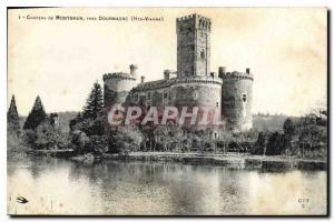 Old Postcard Chateau de Montbrun near Dournazac Haute Vienne