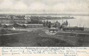 LP33 Winona Lake  Indiana Postcard Hotel Lake View