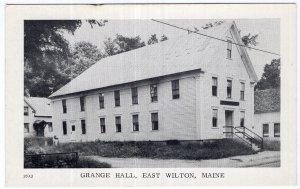 East Wilton, Maine, Grange Hall