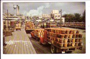 H J Heinz Co Factory, Trucks, Many Bushels of Apples,  Leamington, Ontario