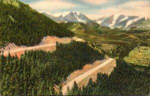 Colorado Estes Park Mt Ypsilon and Mummy Range From Trail Ridge Road Curteich