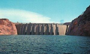 Page, Arizona, AZ, Glen Canyon Dam, Lake Powell, Chrome Vintage Postcard g5700