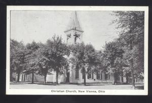 NEW VIENNA OHIO CHRISTIAN CHURCH BUILDING ANTIQUE VINTAGE POSTCARD