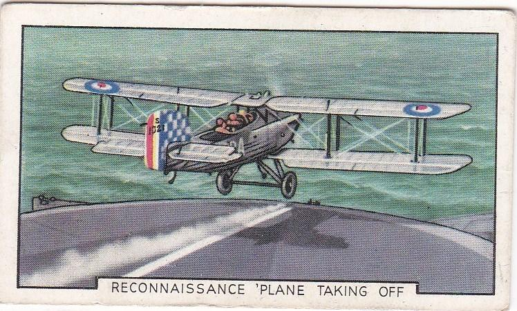 Cigarette Cards Gallaher Park Drive THE NAVY No 5 Reconnaissance Plane