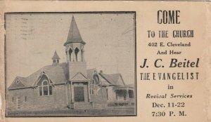 2 Pcs ; GUTHRIE , Ok. 1910s ; Evangelist J.C.Beitel , United Presbyterian Church