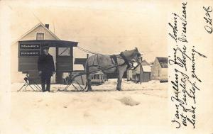 Laconia NH Miller's Horse Drawn Bakery Wagon Real Photo Postcard