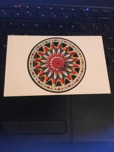 Vintage Postcard:Circus Hall of Fame, Sarasota FL ,Sunburst Wagon Wheel