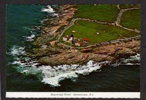 RI Beavertail Point Light House Lighthouse  Jamestown Rhode Island Postcard