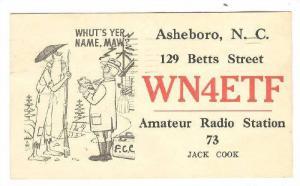WN4ETF, Amateur Radio Station 73 Jack Cook, Asheboro, North Carolina, PU-1962
