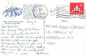 Hotel Beach & Cabana Club San Juan Puerto Rico Postmark 1973