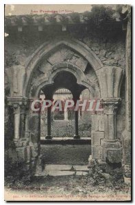 Old Postcard St. Bertrand Comminges Gothic door in the cloister