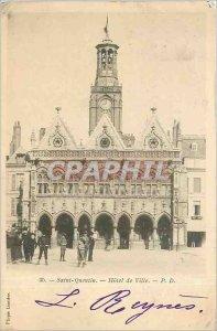 Old Postcard Saint-Quentin - City Hall