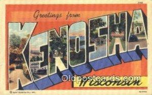 Kenosha, Wisconsin, USA Large Letter Town Unused