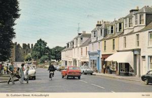 St Cuthbert Street Kirkcudbright Chemists Newsagent 1970s Postcard