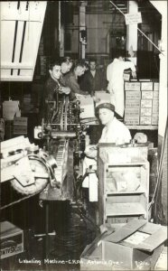 Astoria OR Canning Factory Work Labor Occupation Real Photo Postcard xst