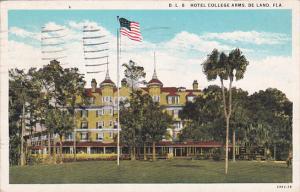 Florida De Land D L 8 Hotel College Arms 1937