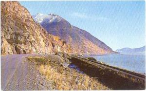 Turnagain Arm Highway and Alaska Railroad to Seward Alaska  Pre-zip Code Chrome